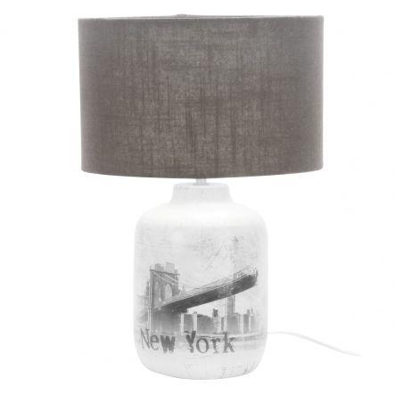 Lampada Da Tavolo New York City Ceramica H42 E27 40w